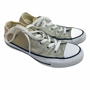 Converse Two Toned Silver & Gold Glitter Sneakers